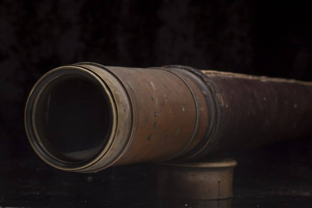Telescope from Cooby farm, Stockyard Mountain. Donated by Joseph Borrowdale Smith.