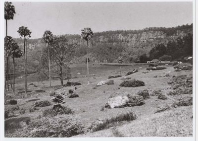 Clover Hill farm with original Thomas family homestead in the distance c.1950 Donated by Julie Hastie.