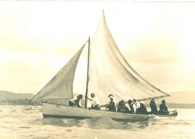 287 - Sailing Boat on the lake c.1920
