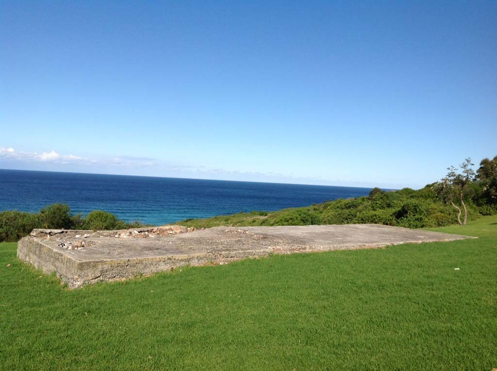 Foundations of Seaview's piggery at Killalea State Park 2015. Shellharbour City Council collection.